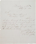 Miscellaneous:Ephemera, Tombstone, Arizona: Letter by Leading Western Expert on GunshotWounds....