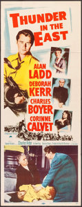 """Movie Posters:Adventure, Thunder in the East (Paramount, 1953). Insert (14"""" X 36"""").Adventure.. ..."""