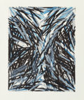 Fine Art - Work on Paper:Print, Charles Arnoldi (American, b. 1946). Night Repair, 1983. Lithograph in colors on wove paper. 26-3/4 x 21-1/4 inches (67....