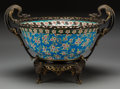 Asian:Chinese, A Longwy Bronze-Mounted Chinese Enameled Porcelain Bowl. Marks:LONGWY, 3; 13., D188. 13 inches high x20 in...