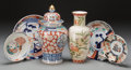 Asian:Japanese, A Group of Six Japanese Imari and Shibata Mfg. Porcelain TableItems, 20th century. 12-1/8 inches high (30.8 cm) (ginger jar...(Total: 6 Items)