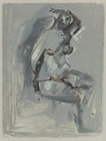 Fine Art - Work on Paper:Print, After Marino Marini (Italian, 1901-1980). Untitled (Female Nude), 1942. Lithograph in colors. 14 x 10-3/4 inches (35...
