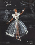 Fine Art - Work on Paper:Drawing, Francois Ganeau (French, 1912-1983). Roméo et Juliette,1946. Gouache on paper. 12 x 9-1/4 inches (30.5 x 23.5 cm) (shee...