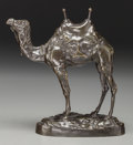 Bronze:American, A Patinated Bronze Camel, after Antoine-Louis Barye, 20th century. Marks: BARYE. 9-1/2 inches high (24.1 cm). ...