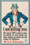 "Movie Posters:War, World War I Propaganda by James Montgomery Flagg (U.S. GovernmentPrinting, 1918). War Savings Stamps Poster (20"" X 30""). Wa..."