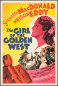 "Movie Posters:Musical, The Girl of the Golden West (MGM, 1938). One Sheet (27"" X 41"") Style D. Musical.. ..."