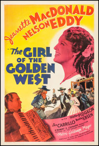 """The Girl of the Golden West (MGM, 1938). One Sheet (27"""" X 41"""") Style D. Musical"""