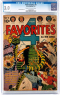 Golden Age (1938-1955):Science Fiction, Four Favorites #9 (Ace, 1943) CGC GD/VG 3.0 Cream to off-whitepages....