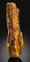 Lapidary Art:Carvings, Tiger's Eye End Cut. Mt. Brockman Station. Pilbara.Western Australia. ...