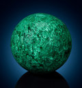 Lapidary Art:Eggs and Spheres, Large Malachite Sphere. Katanga Copper Crescent. Katanga(Shaba). Democratic Republic of Congo (Zaïre). ...