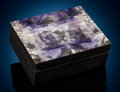 Lapidary Art:Boxes, Large Tiffany Stone Box. Stone Source: Spor Mountain, Thomas Range, Juab Co., Utah, USA and South Ural, Russia. Artist...