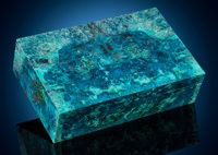 Large Shattuckite Box Stone Source: Democratic Republic of Congo (Zaïre) Artist: Konst
