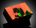 Lapidary Art:Boxes, Fluorescent Box. Stone Source: Sterling Mine, Sterling Hill, Ogdensburg, Franklin Mining District, Sussex Co., New Jersey,...