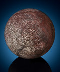 Lapidary Art:Eggs and Spheres, Large Dinosaur Bone Sphere. Jurassic. MorrisonFormation. Utah, USA. ...
