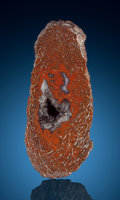 "Lapidary Art:Carvings, Polished ""Gem"" Dinosaur Bone Crystal Cavity. Jurassic.Morrison Formation. Utah, USA. ..."