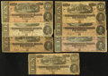 Confederate Notes:Group Lots, T68 $10 1864. Seven Examples. ... (Total: 7 notes)