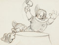 Animation Art:Production Drawing, Snow White and the Seven Dwarfs Doc and Dopey Storyboard(Walt Disney, 1937)....