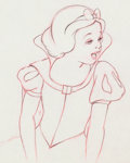 Animation Art:Production Drawing, Snow White and the Seven Dwarfs Snow White Animation Drawing(Walt Disney, 1937)....