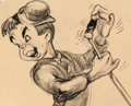 Animation Art:Production Drawing, Pinocchio Lampwick Storyboard (Walt Disney, 1940)....