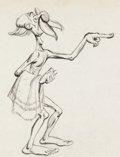 Animation Art:Production Drawing, The Reluctant Dragon Sir Giles Character Development Drawing (Walt Disney, 1941)....