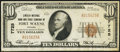 National Bank Notes:Indiana, Fort Wayne, IN - $10 1929 Ty. 1 Lincoln NB & TC Ch. # 7725. ...