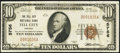 National Bank Notes:Indiana, Tell City, IN - $10 1929 Ty. 1 The Tell City NB Ch. # 5756. ...