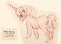 Animation Art:Production Drawing, Fantasia Unicorn (Pegasus) Model Sheet Illustration (WaltDisney, 1940)....