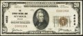 National Bank Notes:Indiana, Seymour, IN - $20 1929 Ty. 1 The Seymour NB Ch. # 4652. ...