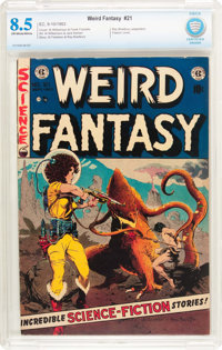 Weird Fantasy #21 (EC, 1953) CBCS VF+ 8.5 Off-white to white pages