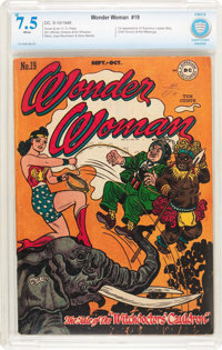 Wonder Woman #19 (DC, 1946) CBCS VF- 7.5 White pages