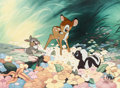 Animation Art:Limited Edition Cel, Bambi Bambi, Flower, and Thumper Limited Edition Cel#388/500 (Walt Disney, 1988)....