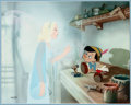 Animation Art:Limited Edition Cel, Pinocchio and the Blue Fairy Limited Edition Cel #260/275(Walt Disney, 1990)....