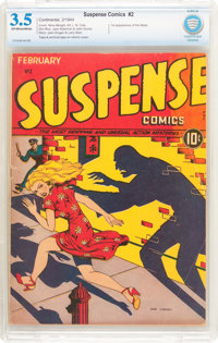 Suspense Comics #2 (Continental Magazines, 1944) CBCS VG- 3.5 Off-white to white pages