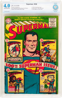 Superman #100 (DC, 1955) CBCS VG 4.0 Off-white to white pages