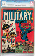 Golden Age (1938-1955):War, Military Comics #2 (Quality, 1941) CGC FN/VF 7.0 Cream to off-white pages....