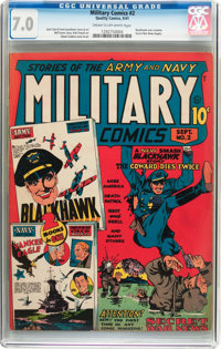 Military Comics #2 (Quality, 1941) CGC FN/VF 7.0 Cream to off-white pages