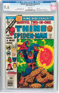 Bronze Age (1970-1979):Superhero, Marvel Two-In-One Annual #2 Thing and Spider-Man (Marvel, 1977) CGC NM+ 9.6 White pages....