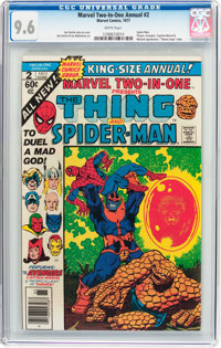 Marvel Two-In-One Annual #2 Thing and Spider-Man (Marvel, 1977) CGC NM+ 9.6 White pages