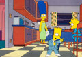 "Animation Art:Production Cel, The Simpsons ""Bart, the Murderer"" Bart, Maggie, and MargeProduction Cel (Fox, 1991)...."