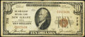 National Bank Notes:Indiana, New Albany, IN - $10 1929 Ty. 1 The New Albany NB Ch. # 775. ...