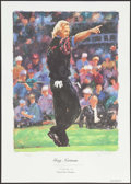 Miscellaneous Collectibles:General, Greg Norman Signed Lithograph. ...