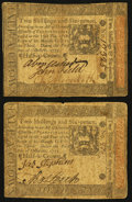 Colonial Notes:Pennsylvania, Pennsylvania October 1, 1773 2s 6d Two Examples Fine.. ... (Total:2 notes)