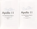 Autographs:Celebrities, Buzz Aldrin Signed Books: Apollo 11 The NASA Mission Reports,Volumes One and Two, Originally from His Personal Co... (Total:2 Items)