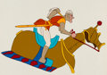 Animation Art:Production Cel, Dragon's Lair Dirk the Daring Production Cel (Don Bluth,1983)....