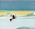 Animation Art:Production Cel, Chilly Willy Production Cel and Painted Background Setup(Walter Lantz, c. 1960-70s)....