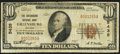 National Bank Notes:Indiana, Greensburg, IN - $10 1929 Ty. 1 The Greensburg NB Ch. # 5435. ...