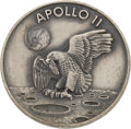 Explorers:Space Exploration, Apollo 11 Flown Silver Robbins Medallion, Serial Number 218,Originally from the Personal Collection of Mission Support CrewM...