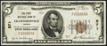 National Bank Notes:Indiana, Crawfordsville, IN - $5 1929 Ty. 1 The First NB Ch. # 571. ...