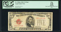 Small Size:Legal Tender Notes, Fr. 1528 $5 1928C Mule Legal Tender Note. F-A Block. PCGS Apparent Fine 12.. ...