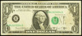 Error Notes:Shifted Third Printing, Fr. 1907-B $1 1969D Federal Reserve Note. Fine.. ...